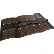 Premium Brown Leather 12 Pocket Chisel Roll