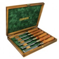 Narex Set of polished bevel edge chisels PREMIUM in wooden box