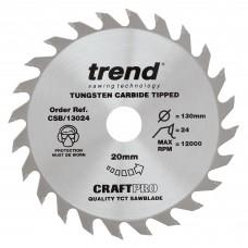 Craft saw blade 130mm x 24 teeth x 20mm