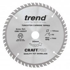 Craft saw blade 165mm x 52 teeth x 20 thin