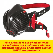 Trend Air Stealth respirator mask. Small/Medium size half mask with twin P3 rated filters.